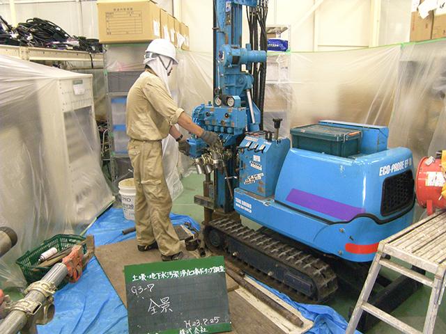 稼働中工場での施工状況