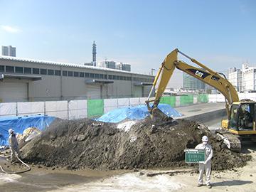 土壌汚染対策工事